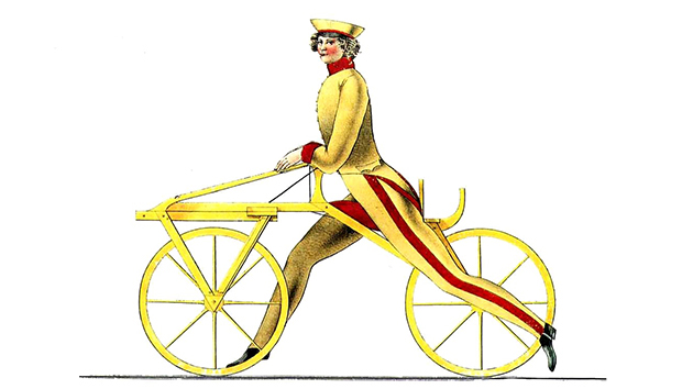 Draisienne or Dandy horse, the predecessor of the bicycle.