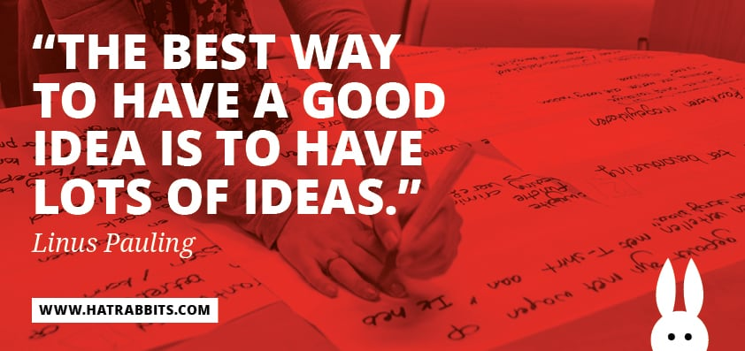 The best way to have a good idea...